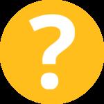 Fragezeichen-Symbol im gelben Kreis